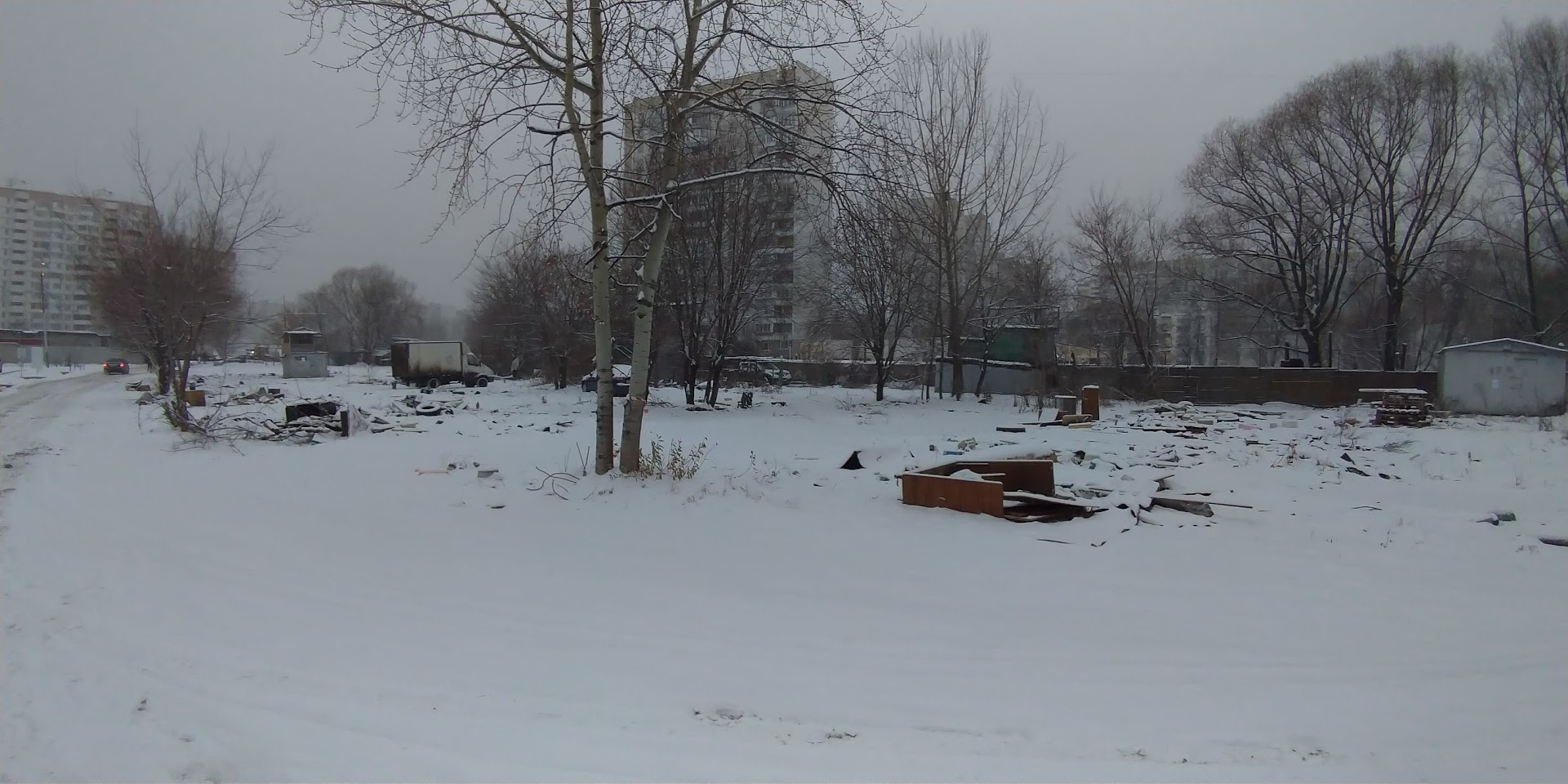 Демонтаж гаражей / ракушек по ул.Феодосийская осуществлен