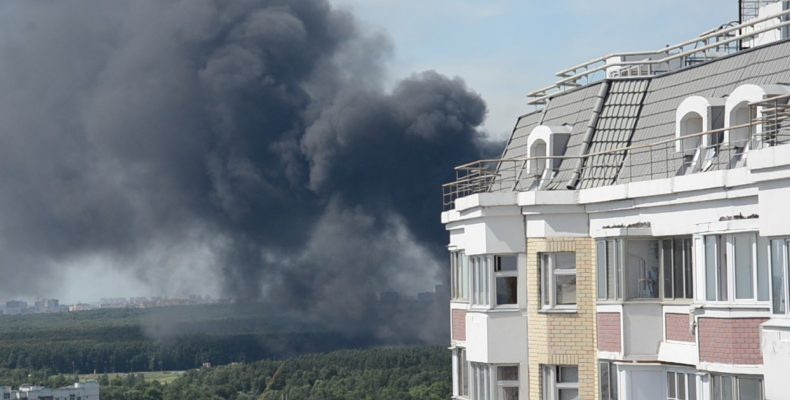 На пожаре в Северном Бутово спасено 4 человека