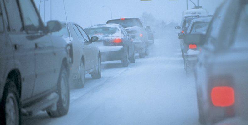 В Северном Бутово из-за скользкой дороги остановились автобусы