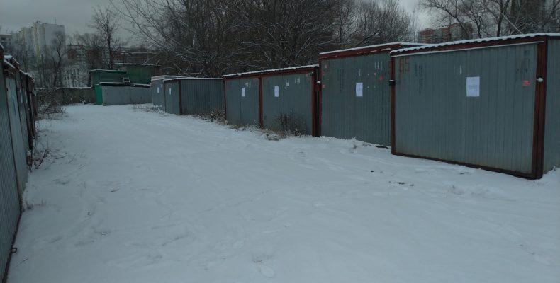 Демонтаж гаражей (ракушек) в Северном Бутово Феодосийская улица, 1к11