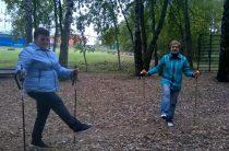 В дни перерыва в работе клуба «Нордик-Бутово» часть его членов тренировалась самостоятельно