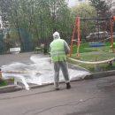 В районе Северное Бутово в седьмой раз прошла сплошная дезинфицирующая обработка
