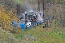 Возгорание на газорегуляторном пункте. 11 домов в районе Северное Бутово в Москве остались без газа.