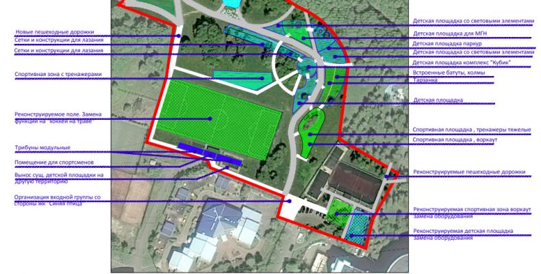 В 2019 году запланированы работы по обустройству спортивного кластера в районе Северное Бутово