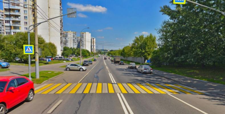 Обустроен пешеходный переход в Сев.Бутово на улице Коктебельская, д. 11